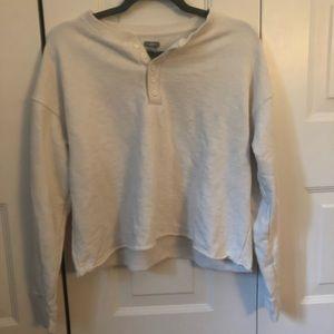 Aerie cropped lightweight sweatshirt